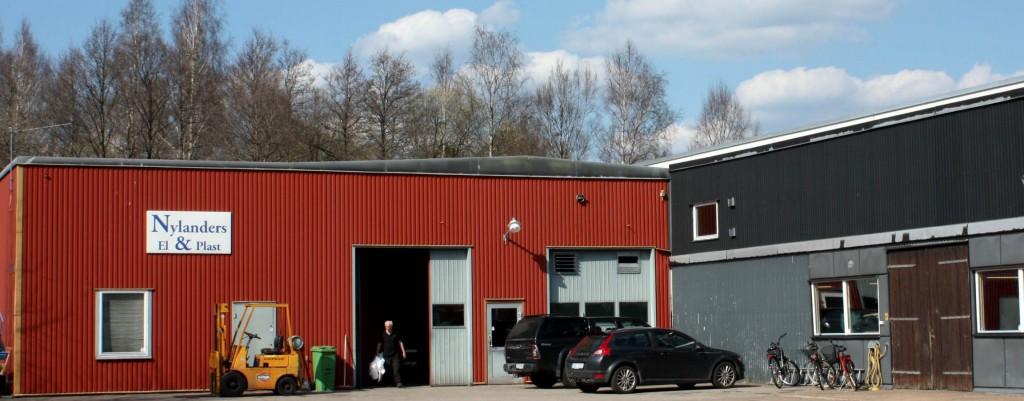 Fasaden på företaget.